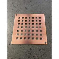 Grate in copper