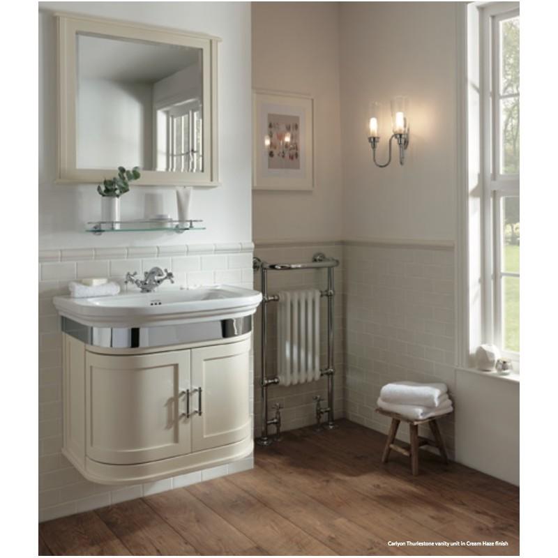 Carlion Waschbecken mit Schrank und Tür
