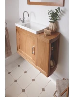 Thurlestone lille vask med dør og hylde