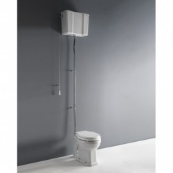 Albano pan and high level cistern