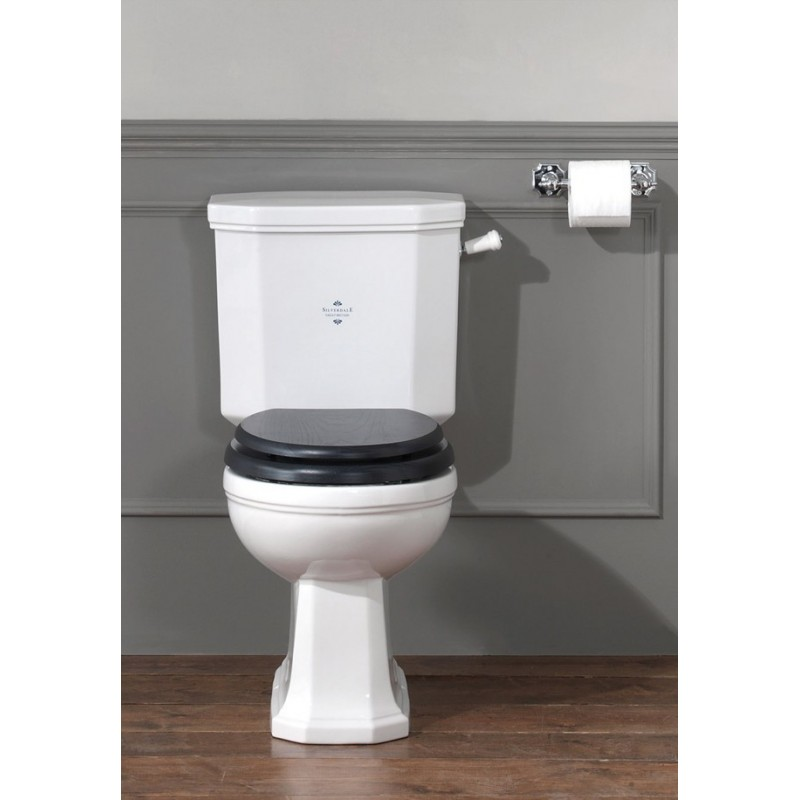 Empire toilet med fast cisterne