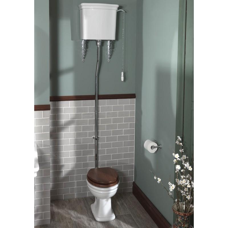 Loxley toilet med høj cisterne