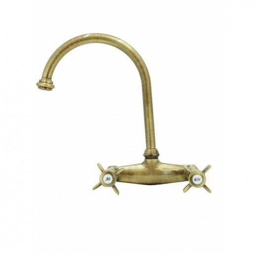 3012 Waterspring armatur til væg bronze
