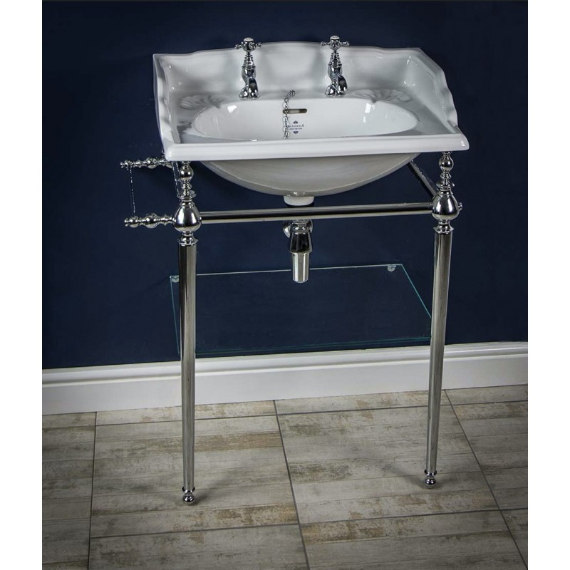 Victorian stor håndvask på stel