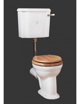 Victorian pan and low level cistern