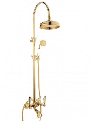 Doccia arco + 6040 Dronning armatur til bruse-badekar