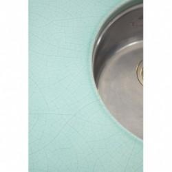 Bordsskiva i lavasten med isbildning 3 cm