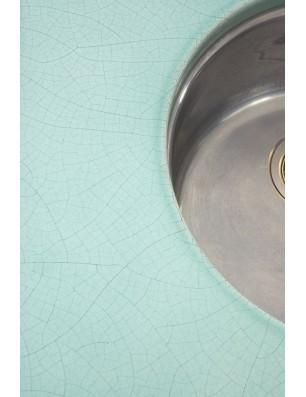 Bordplade i lavasten med glasur 3 cm
