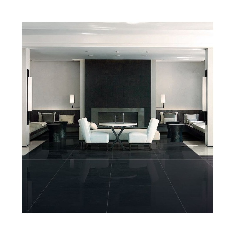Tiles in Pure Black 2 cm calibrated