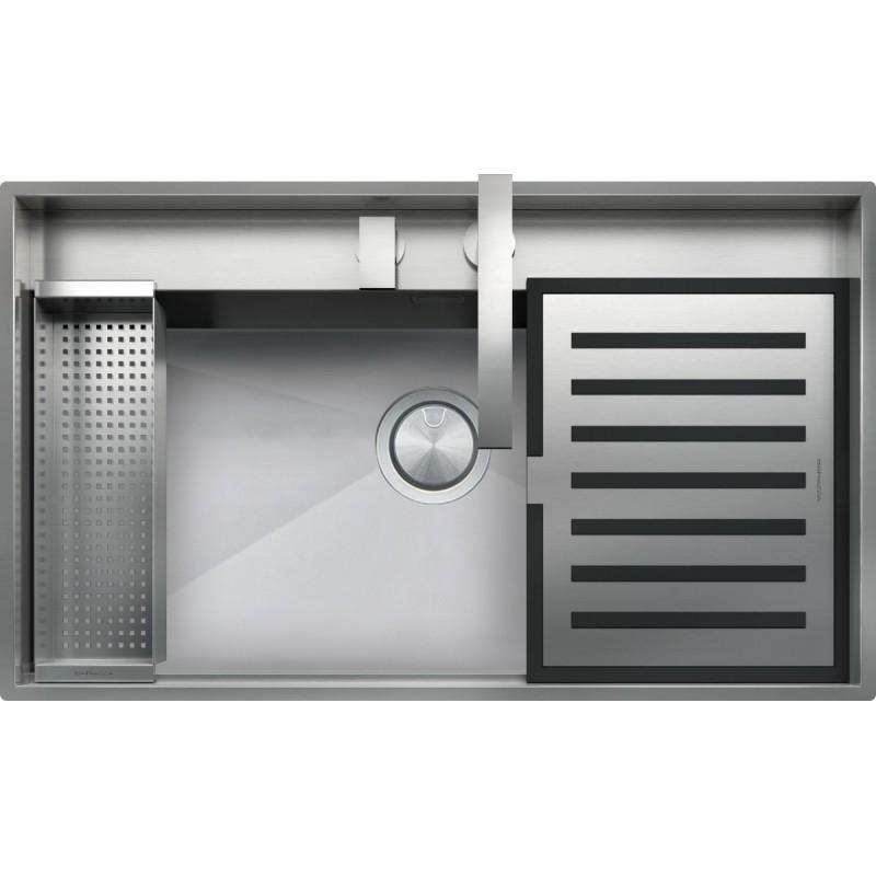 Lab 86 ×51 cm indbygget stålvask Kit