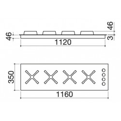 Select Plus 120 cm indbygget kogeplade
