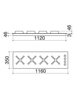 Select Plus 120 cm built-in hob
