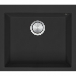 Soul 57×50 cm built-in sink black