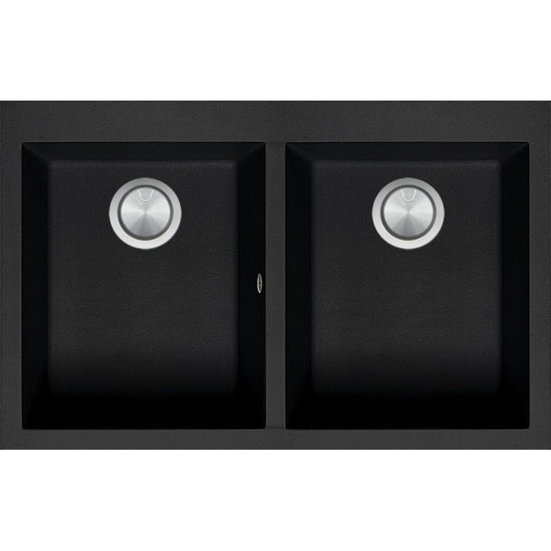 Soul  79×50 cm built-in sink black