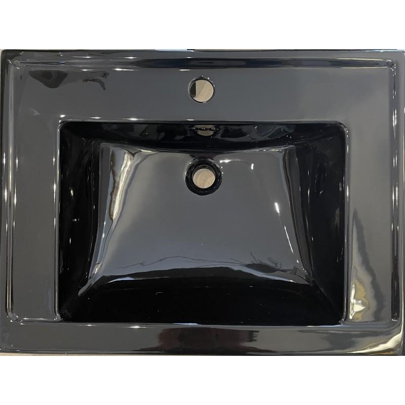 Astoria deco stor håndvask sort