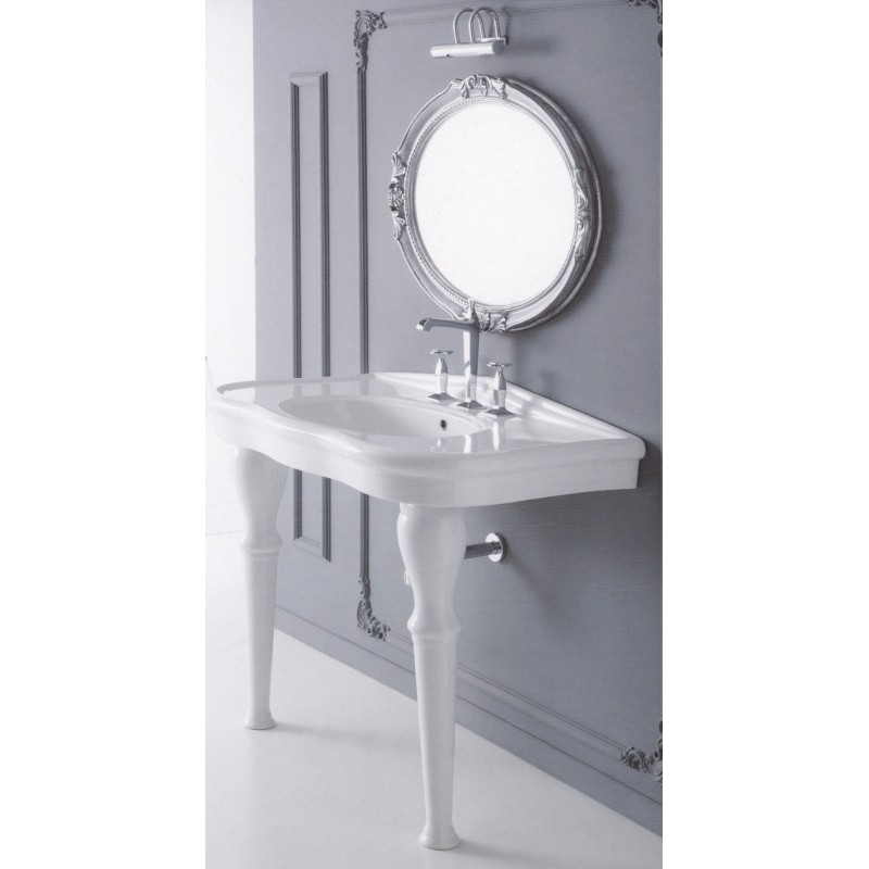 Paolina 90 wash basin with 2 legs