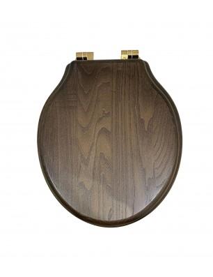 toilet seat dark oiled oak