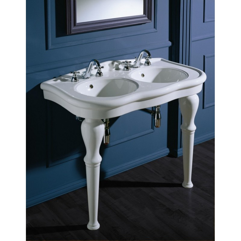 Paolina110 2 large sink with 2 legs