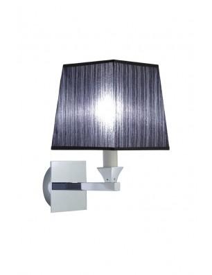 Astoria væglampe firkantet stofskærm sort