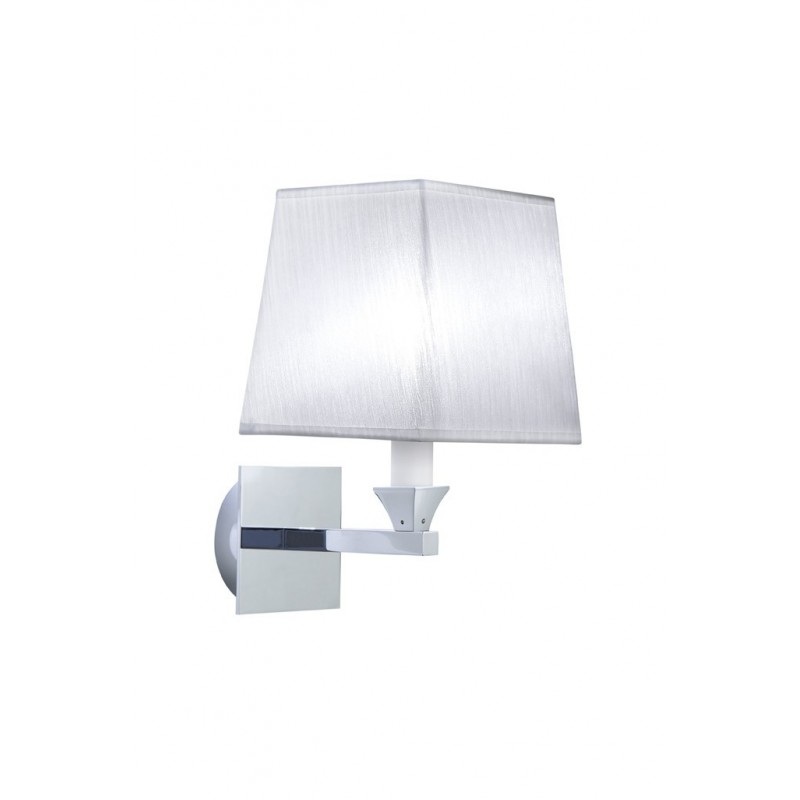 Astoria wall light square fabric screen white