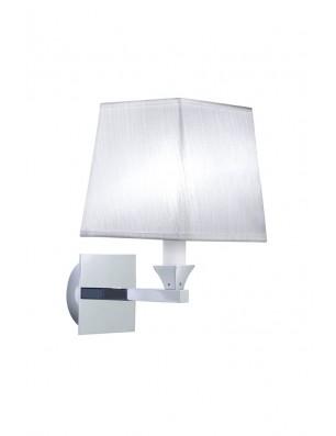 Astoria væglampe firkantet stofskærm hvid
