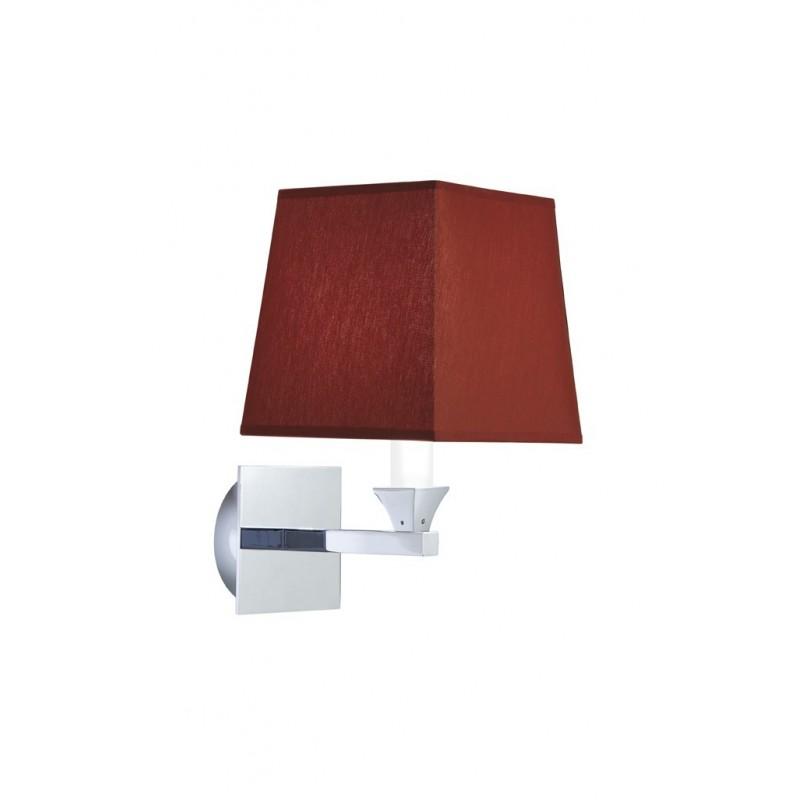 Astoria wall light square tyg skärmen rubin