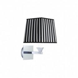Astoria væglampe firkantet stofskærm sort og hvid