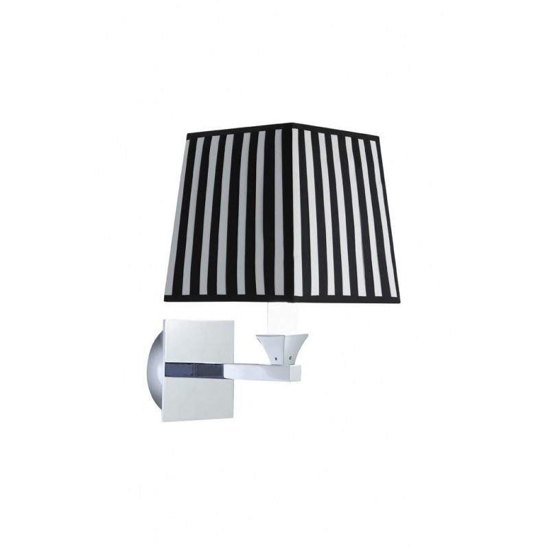 Astoria wall light square stoff skjermen svart og hvit