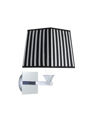 Astoria wall light square fabric screen black and white