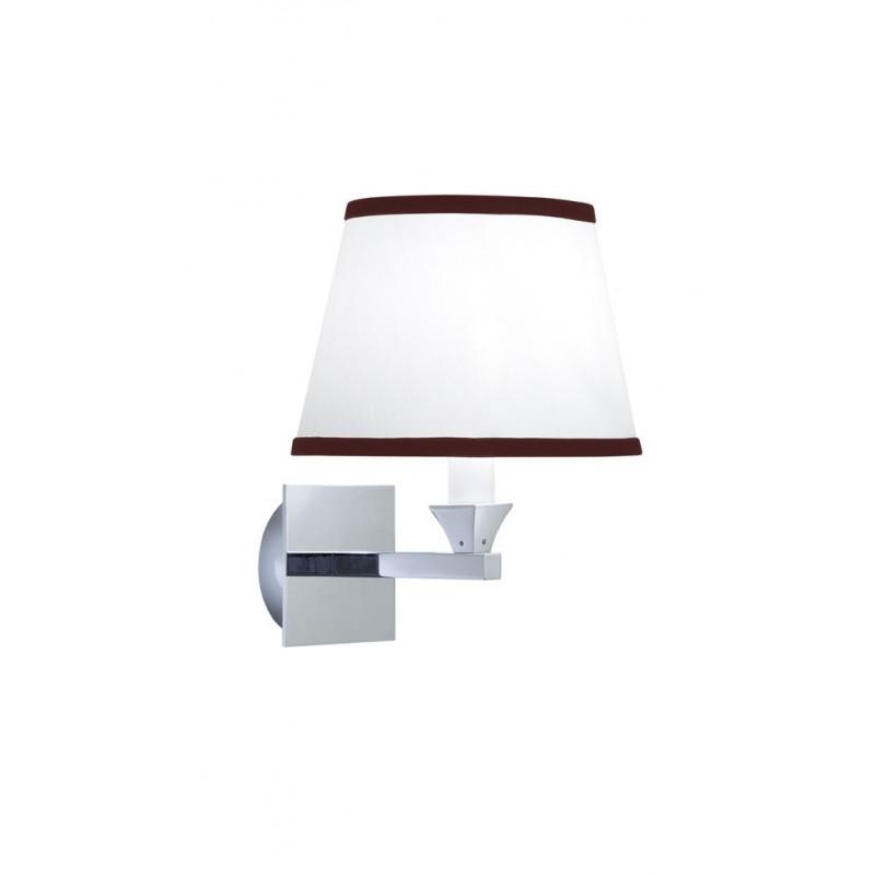Astoria - Oxford væglampe oval med rubin nålestribet