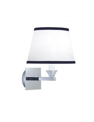 Astoria - Oxford væglampe oval med blå nålestribet