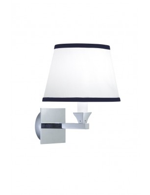 Astoria-Oxford Wall lamp oval with blue pinstripes