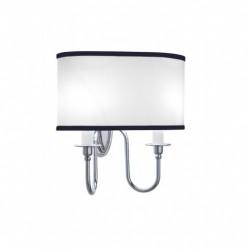 Heyford - Oxford væglampe oval med sort nålestribet