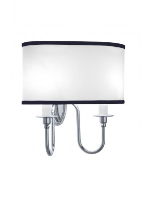 Heyford,-Oxford Wall lamp oval with black pinstripe