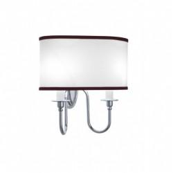 Heyford - Oxford væglampe oval med rubin nålestribet