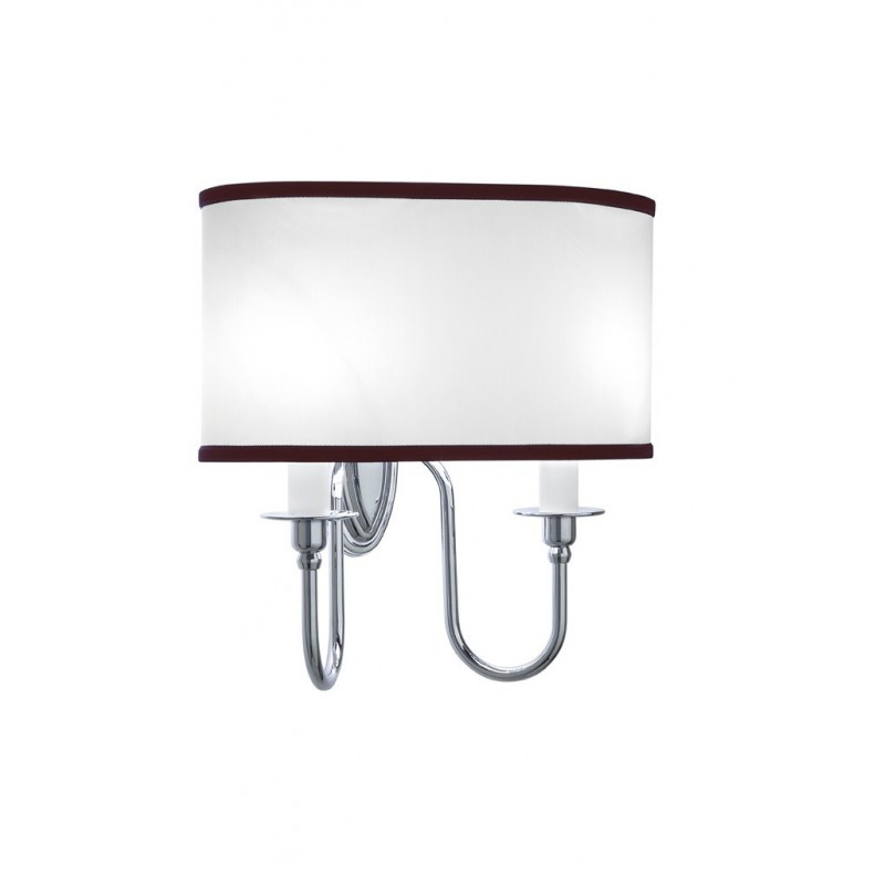 Heyford,-Oxford Wall lamp oval with rubin Pinstripe