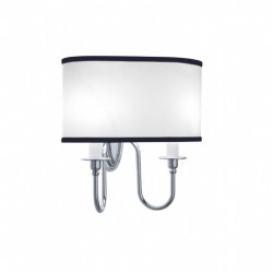 Heyford,-Oxford Wall lamp oval with blue pinstripes