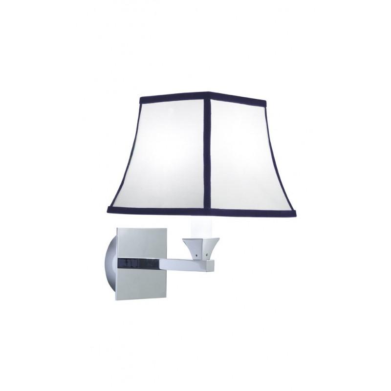 Astoria væglampe med blå nålestribet