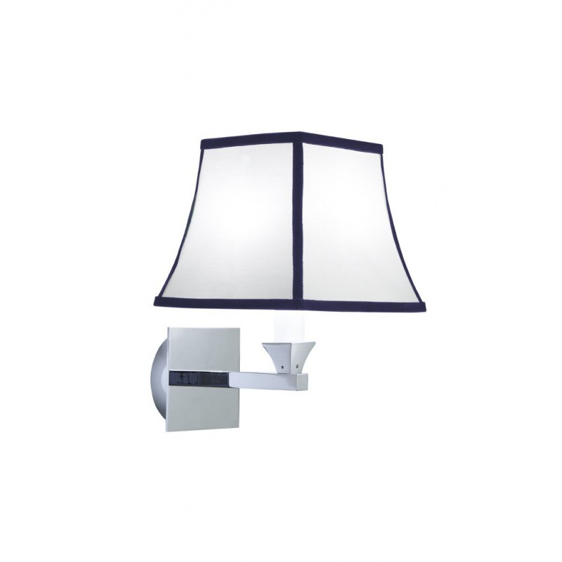 Astoria wall light with blue pinstripes